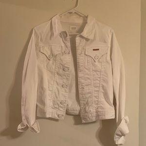 Hudson White Denim Jacket